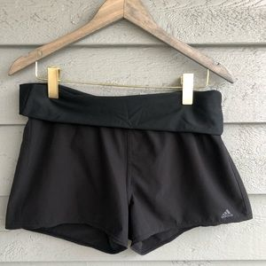 Adidas Black Athletic Foldover Shorts M